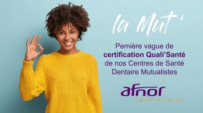 Première vague de certification Qualit'Santé de nos Centre de Santé Dentaire Mutualistes validée.